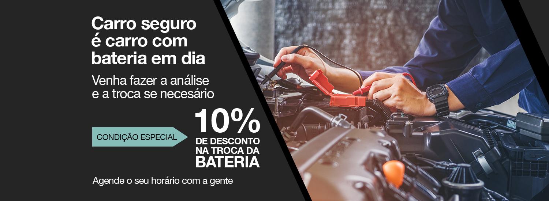 Bateria para o seu carro com 10% de desconto.