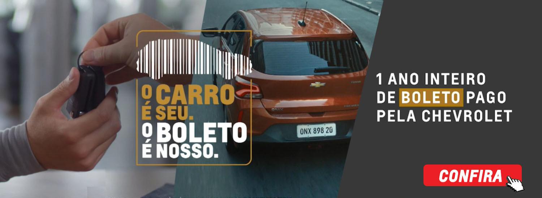 1 ANO DE BOLETO PAGO PELA CHEVROLET!