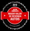Maior Valor de Revenda 2019 - Hatch Compacto