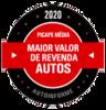 Maior Valor de Revenda 2020 (Picape Média)
