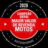 Campeão Geral 2020 - Maior valor de revenda
