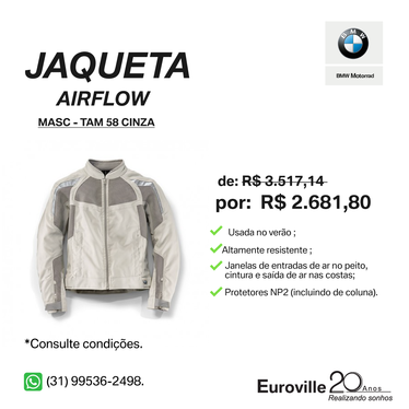 Model main comprar jaqueta airflow cinza tamanho 58 f54e79b65a
