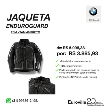Model main comprar jaqueta enduroguard feminina preta tamanho 40 f380df1168