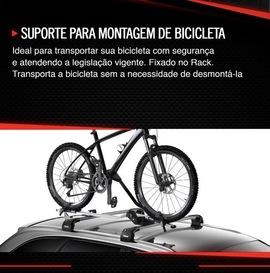SUPORTE PARA TRANSPORTAR BICICLETA - TRILHO -