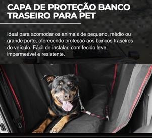 CAPA DE PROTEÇÃO BANCO TRASEIRO PARA PET