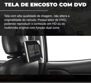 TELA DE ENCOSTO COM DVD