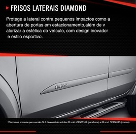 FRISOS LATERAIS DIAMOND L200 TRITON SPORT