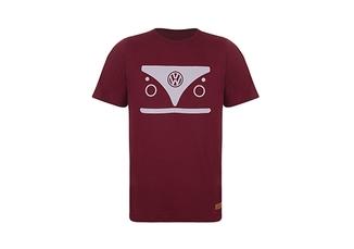 Camiseta Signature Masculina Kombi Volkswagen Bordô