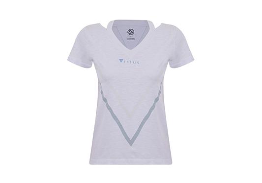 galeria Blusa Launch Feminina Virtus Volkswagen Branco