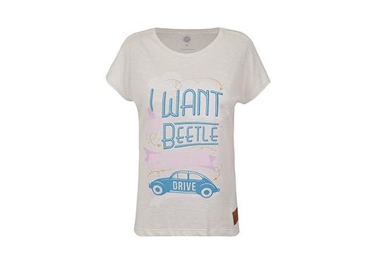galeria Blusa I Want Beetle Feminina Fusca Volkswagen Bege