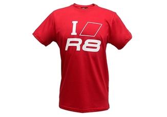 Camiseta I Love R8 Audi Sport - Vermelha