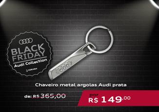 Chaveiro Metal Argolas Audi Prata