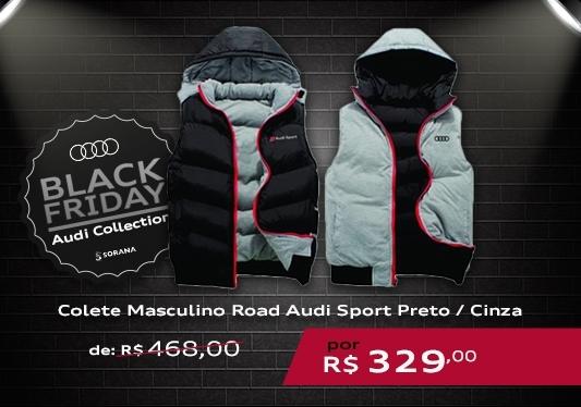 galeria Colete Masculino Road Audi Sport Preto / Cinza