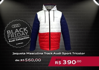 Jaqueta Masculina Track Audi Sport Tricolor