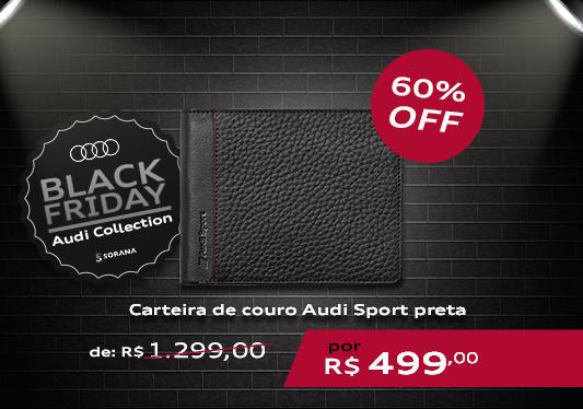 galeria Carteira de Couro Audi Sport Preta