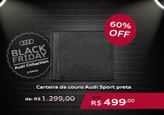 Carteira de Couro Audi Sport Preta