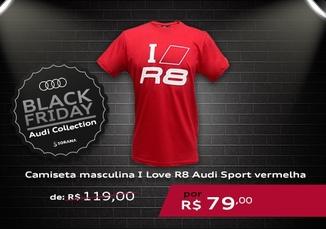 Camiseta Masculina I Love R8 Audi Sport Vermelha