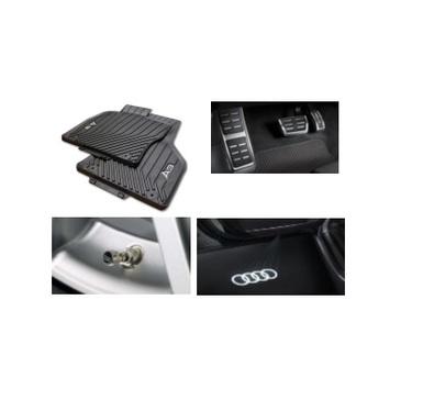 galeria Kit Intermediário Audi A3 (Jg de Tapetes, Jg de Pedaleira, Capa de Válvula e Audi Beam)