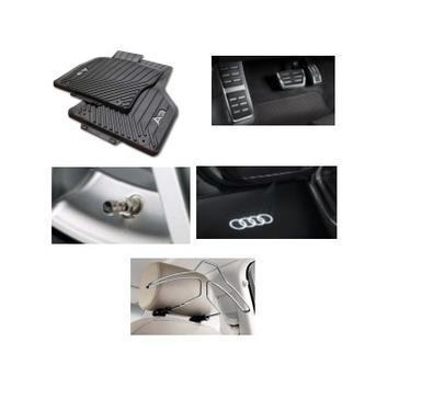 galeria Kit Essencial Audi A3 (Jg de Tapetes, Jg de Pedaleira, Capa de Válvula, Audi Beam e Cabide)