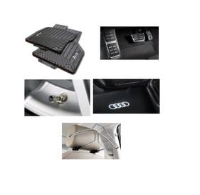 Kit Essencial Audi A3 (Jg de Tapetes, Jg de Pedaleira, Capa de Válvula, Audi Beam e Cabide)