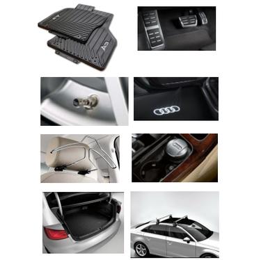 galeria Kit Completo Audi A3 (Jg de Tapetes, Jg de Pedaleira, Capa de Válvula, Audi Beam, Cabide, Cinzeiro, Protetor do Porta Malas e Rack de Teto)