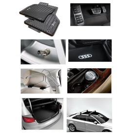 Kit Completo Audi A3 (Jg de Tapetes, Jg de Pedaleira, Capa de Válvula, Audi Beam, Cabide, Cinzeiro, Protetor do Porta Malas e Rack de Teto)