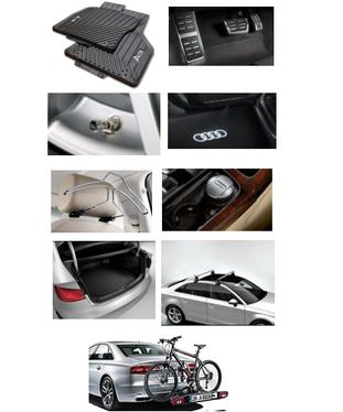 galeria Kit Sport Audi A3 (Jg de Tapetes, Jg de Pedaleira, Capa de Válvula, Audi Beam, Cabide, Cinzeiro, Protetor do Porta Malas, Rack de Teto e Suporte de Bike)