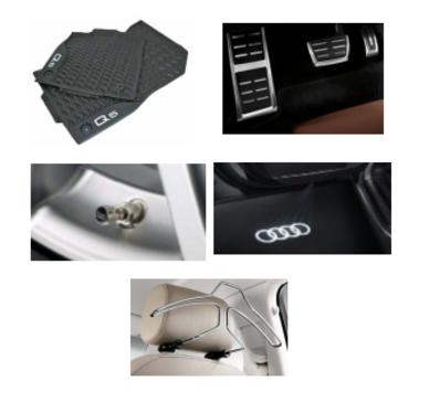 galeria Kit Essencial Audi Q5 (Jg de Tapetes, Jg de Pedaleira, Capa de Válvula, Audi Beam e Cabide)