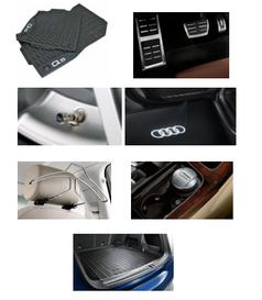 Kit Confort Audi Q5 (Jg de Tapetes, Jg de Pedaleira, Capa de Válvula, Audi Beam, Cabide, Cinzeiro e Protetor do Porta Malas)