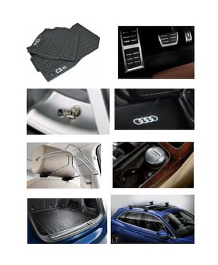 galeria Kit Completo Audi Q5 (Jg de Tapetes, Jg de Pedaleira, Capa de Válvula, Audi Beam, Cabide, Cinzeiro, Protetor do Porta Malas e Rack de Teto)