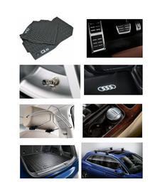 Kit Completo Audi Q5 (Jg de Tapetes, Jg de Pedaleira, Capa de Válvula, Audi Beam, Cabide, Cinzeiro, Protetor do Porta Malas e Rack de Teto)
