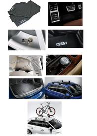 Kit Sport Audi Q5 (Jg de Tapetes, Jg de Pedaleira, Capa de Válvula, Audi Beam, Cabide, Cinzeiro, Protetor do Porta Malas, Rack de Teto e Suporte de Bike)