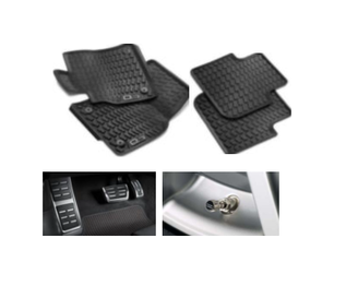 Kit Básico Audi Q3 (Jg de Tapetes, Jg de Pedaleira e Capa de Válvula)