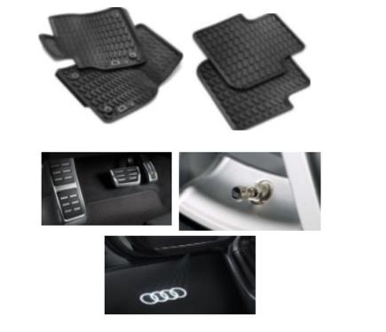 galeria Kit Intermediário Audi Q3 (Jg de Tapetes, Jg de Pedaleira, Capa de Válvula e Audi Beam)