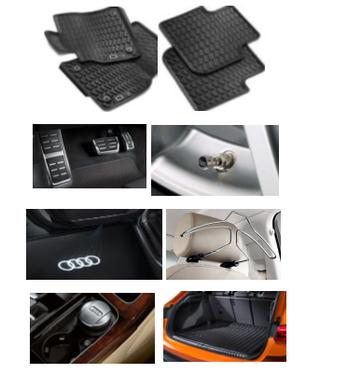 galeria Kit Confort Audi Q3 (Jg de Tapetes, Jg de Pedaleira, Capa de Válvula, Audi Beam, Cabide, Cinzeiro e Protetor do Porta Malas)