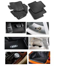 Kit Confort Audi Q3 (Jg de Tapetes, Jg de Pedaleira, Capa de Válvula, Audi Beam, Cabide, Cinzeiro e Protetor do Porta Malas)