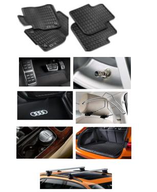 galeria Kit Completo Audi Q3 (Jg de Tapetes, Jg de Pedaleira, Capa de Válvula, Audi Beam, Cabide, Cinzeiro, Protetor do Porta Malas e Rack de Teto)