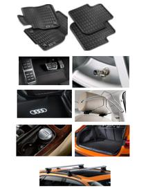 Kit Completo Audi Q3 (Jg de Tapetes, Jg de Pedaleira, Capa de Válvula, Audi Beam, Cabide, Cinzeiro, Protetor do Porta Malas e Rack de Teto)