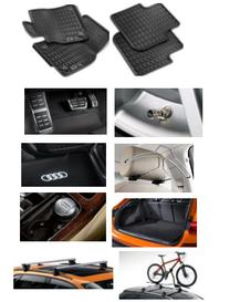 Kit Sport Audi Q3 (Jg de Tapetes, Jg de Pedaleira, Capa de Válvula, Audi Beam, Cabide, Cinzeiro, Protetor do Porta Malas, Rack de Teto e Suporte de Bike)