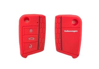 Capa de Silicone Vermelho para Chave Canivete - Cód. 6EA087012B - Original Volkswagen