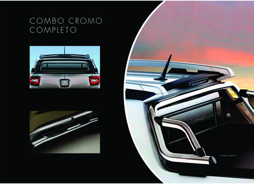 galeria Combo Cromado Toro - Santantonio + Estribos Laterais + Barra Seg.Vidro Traseiro
