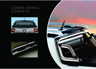 Combo Cromado Toro - Santantonio + Estribos Laterais + Barra Seg.Vidro Traseiro