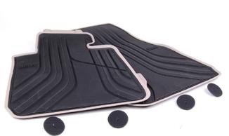 Tapete de Borracha dianteiro e traseiro Série 3 F30 ( Com bordas bege)