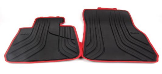 galeria Tapete de Borracha dianteiro e traseiro Série 3 F30 ( Com bordas vermelha)