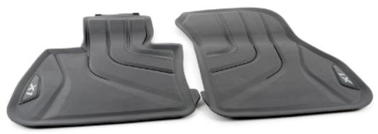 galeria BMW tapetes de borracha dianteiro e traseiro Preto F48 BMW X1