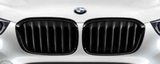 galeria BMW M Performance grade frontal em preto F48 BMW X1