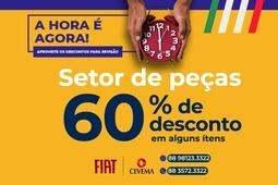 PEÇAS COM ATÉ 60% DE DESCONTO