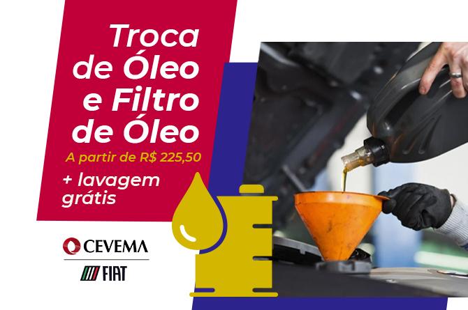 TROCA DE ÓLÉO E FILTRO DE ÓLEO
