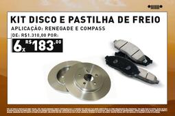KIT DISCO DE PASTILHA DE FREIO