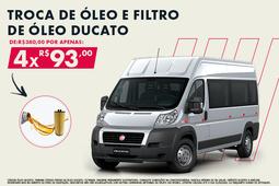 TROCA DE ÓLEO E FILTRO DE ÓLEO -DUCATO